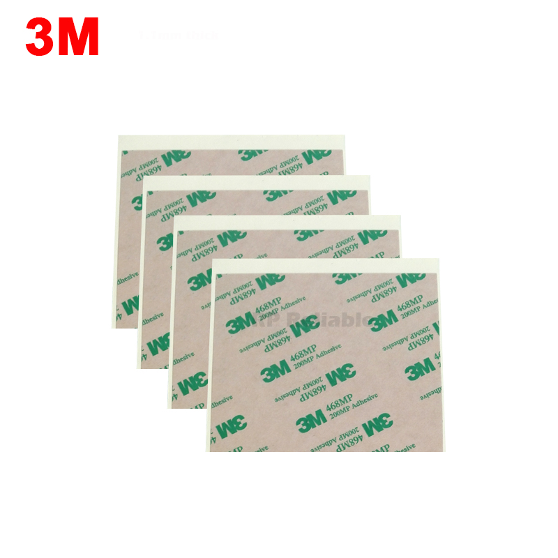 80mm*100mm 3M 468MP Two Sides Sticker For Keyboard Rubber, Foam Phone Panel Thermal Pad ,High Temperature Resist