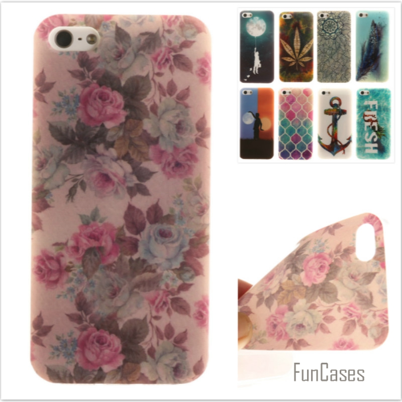 Luxury High quality Soft TPU Butterfly flower Pattern phone Cases for iPhone 5 5S 5G Rub ...