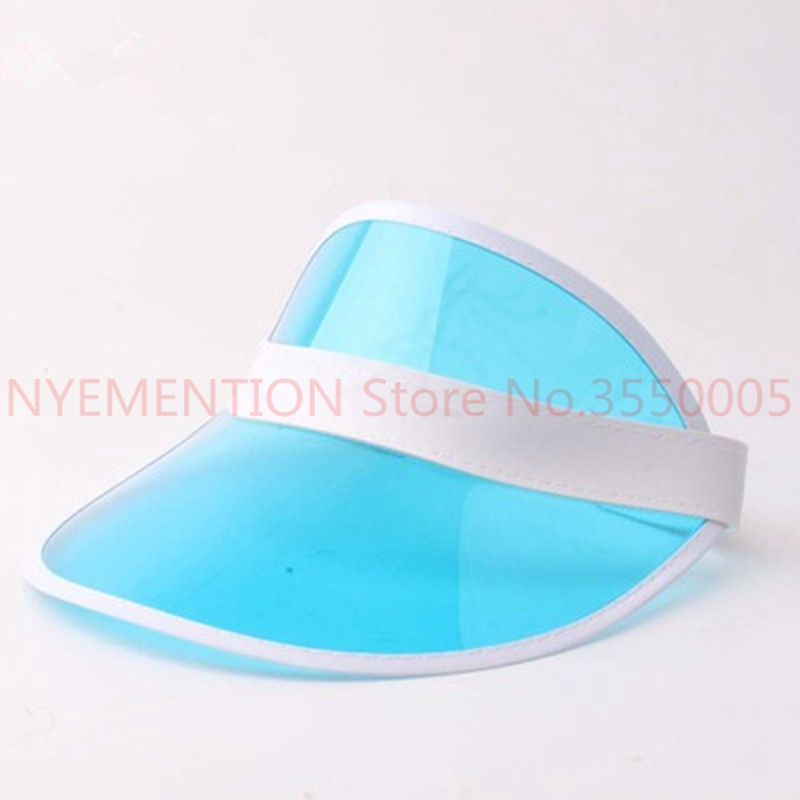 Summer holiday Neon rave sun shade retro party cap plastic visor sun hat rave festival fancy dress poker headband 200pcs