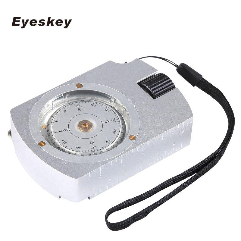 Eyeskey Multi Survie Fonctionnelle Professionnel Boussole Camping Randonnée Boussole Boussole Numérique Carte Compteur Distance Calculatrice