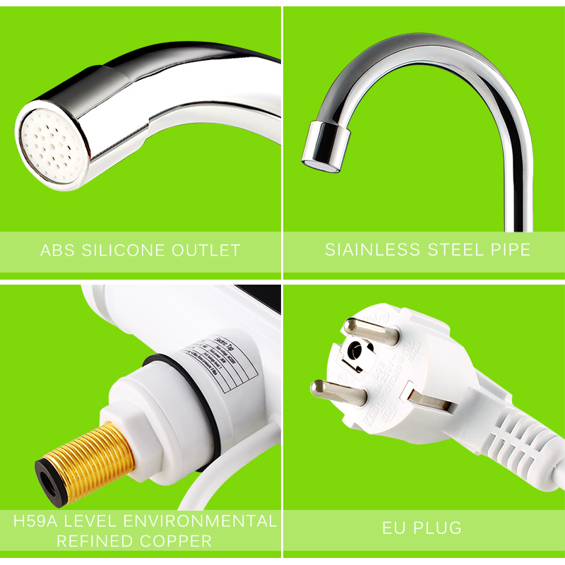 ATWFS Electric Kitchen Water Heater Tap Instant Hot Water Faucet ...