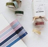 Моранди цвет тонкий васи ленты клейкие 7 мм * м 5 м Сделай сам японский бумага декоративные клей клейкие ленты простой цветная маскирующая лента наклейки