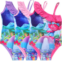 3-10Years Girls Summer Dresses Baby dreamworks trolls
