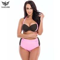 2016 Arrival Bikini Plus Size Swimwear Women Swimsuit High Waist Bathing Suit Push Up Bikini Set