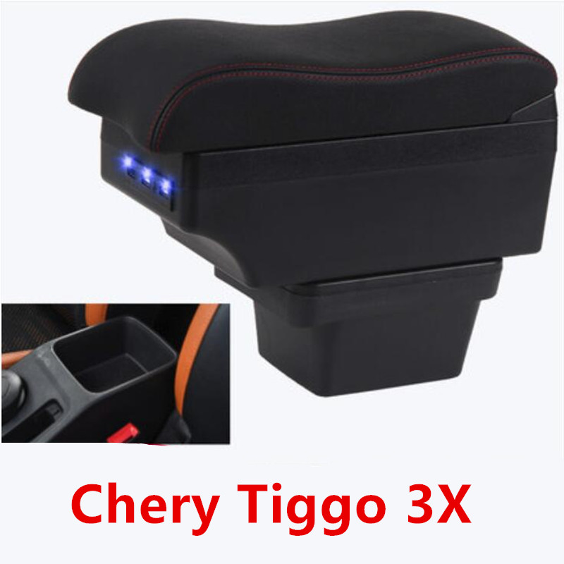 For Chery Tiggo 3X armrest box central Store content box With USB interface(China)