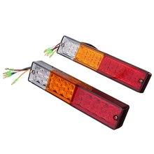 Hehemm 2×20 светодиодный три Цвет Сторона лампа для прицеп хвост Light лампы автомобиль Задние огни