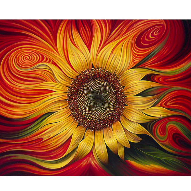 Full Square/Round Drill 5D DIY Diamond Painting Sunflower flowers 3D Embroidery Cross Stitch Mosaic Rhinestone Home Decor gift