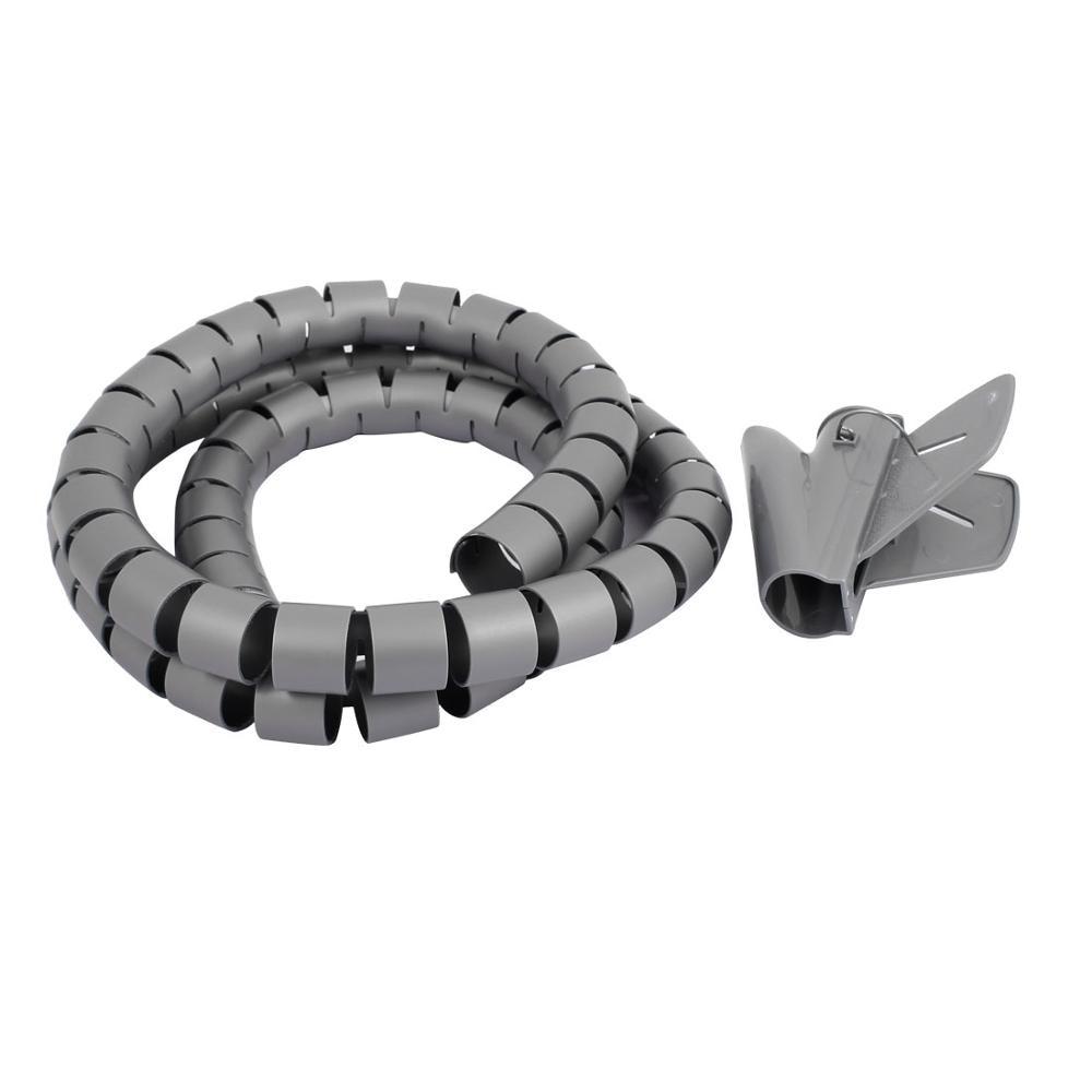 1.5m Length 30mm Diameter Spiral Wire Organizer Wrap Tube Flexible ...
