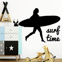 Funny Surf Wall Sticker Decal Home Decor For Living Room Kids Removable Decals