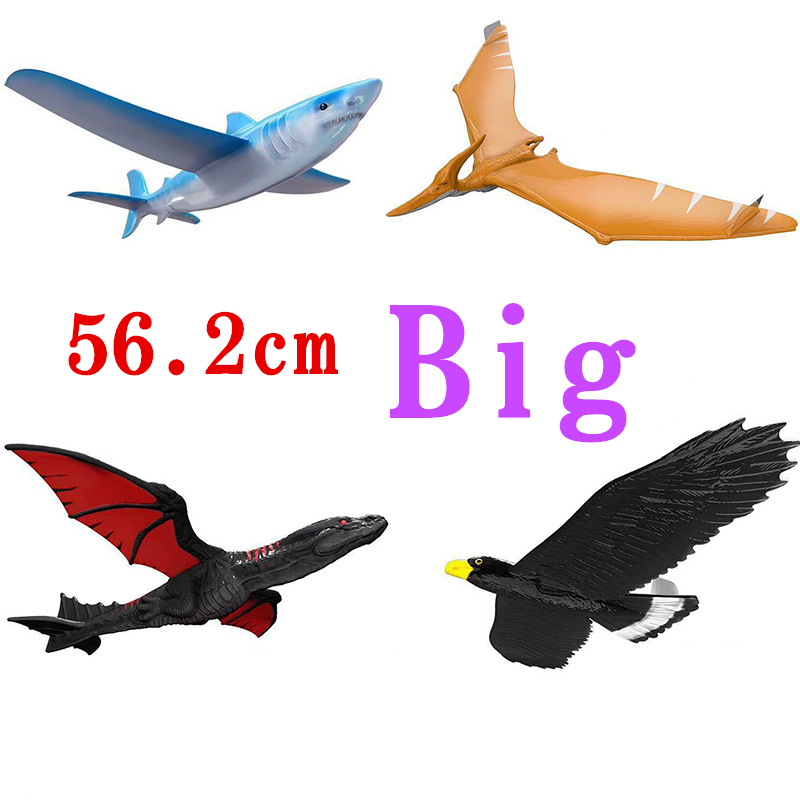 EPP Airplane Hand Launch Throwing Glider Aircraft Inertial Foam Dragon Eagle Shark Plane Model Outdoor Toy Educational Toys Gift image