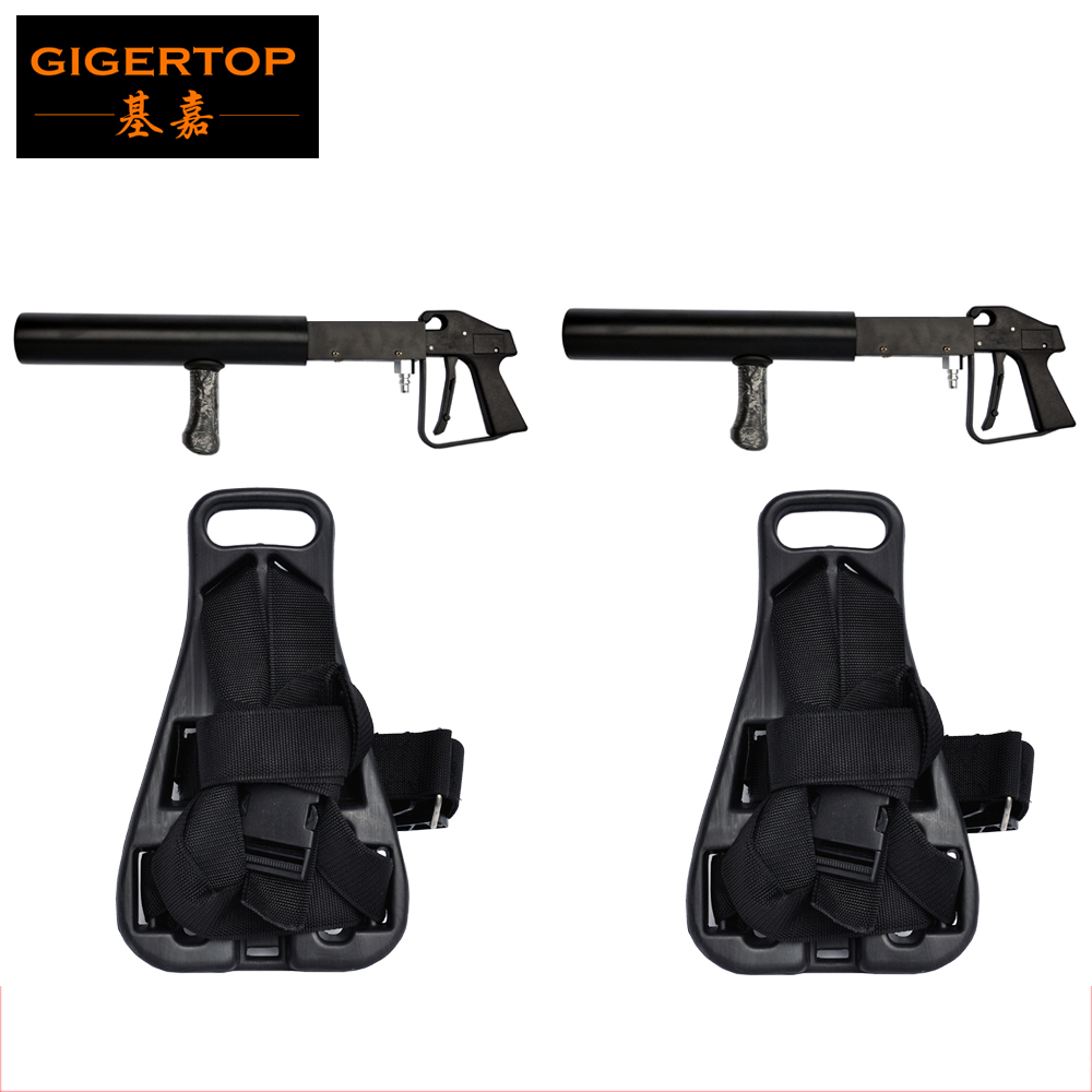 TIPTOP Stage Light DJ Co2 Gun + CO2 Tank Backpack - CO2 Jet - Co2 Cannon Special Effects with 3 meter Gas hose NightClub Cannon 8m stage co2 jet effect machine high pressure resin hose to connect with co2 gas tank