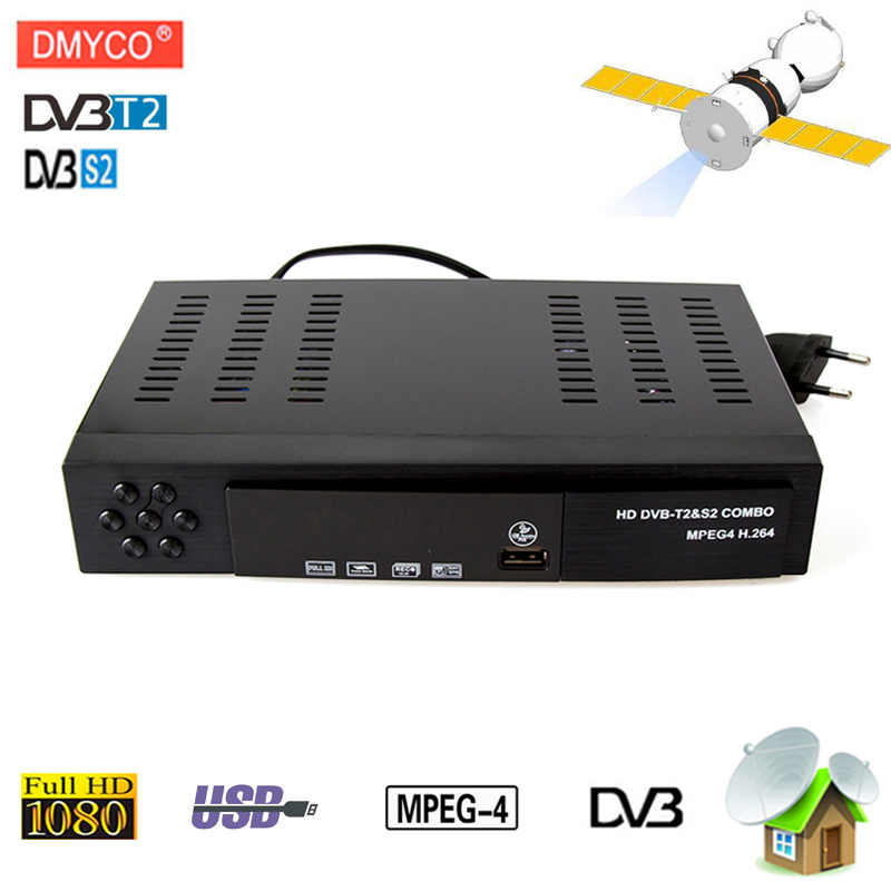 [Genuine]DVB-T2 dvb-S2 Satellite receiver Combo HD Digital 1080P dvb T2 dvb S2 MPEG4 T2 Tuner tv Receiver for Russia Europe