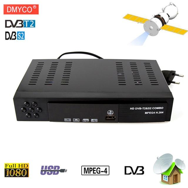 [Genuine]DVB-T2 dvb-S2 Satellite receiver Combo HD Digital 1080P dvb T2 dvb S2 MPEG4 T2 Tuner tv Receiver for Russia Europe
