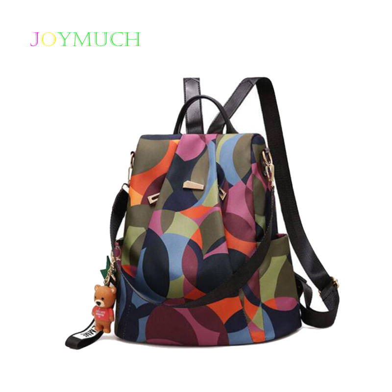Cute Bear Lady Backpack 2018 Autumn New Fashion High Quality Large Capacity Casual Wild Travel Backpack Backpacks Women's Bags