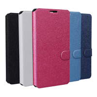 2015 New For Sony Silk Leather Flip Wallet And With Card Holder Stand Cover Case For