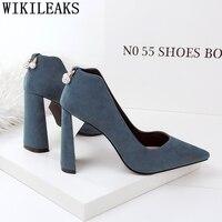 wedding shoes blue shoes office shoes women rhinestone heels dress shoes women sexy high heels moda mujer 2019 zapatos de mujer