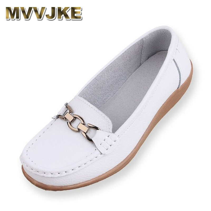 MVVJKE Summer Genuine leather Breathable Mother Woman Flat Shoes For Women Loafers Chaussure Femme Ladies Trainers Zapatos Mujer new casual shoes woman oxford shoes for women loafers designer round toe flat shoes ladies leather shoes derbies chaussure femme
