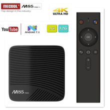 MECOOL M8S PRO L Android 7.1 Amlogic S912 3GB DDR3 16/32GB  2.4G/5.8G WiFi BT Support FULL HD H.265 4K IPTV Set Top Smart TV Box mecool m8s pro l 4k tv box android 7 1 smart tv box 3gb 16gb amlogic s912 cortex a53 cpu bluetooth 4 1 hs with voice control