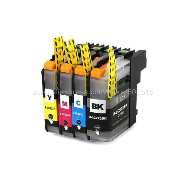 4 шт. Совместимый картридж Brother LC223 LC221 для MFC-J4420DW MFC-J4620DW MFC-J4625DW MFC-J5320DW MFC-J5620DW MFC-J5625DW
