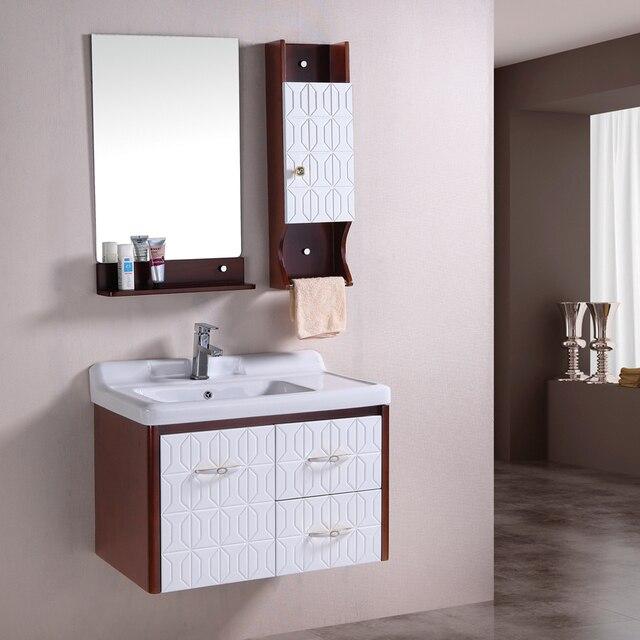 Oak Bathroom Cabinet Wash Basin Combination Storage Solid Wood 0 82 Meters 7006