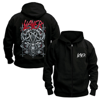 Free Shipping Slayer Metal Four Giant Evil Crest Punk Heavy Metal Hoodie