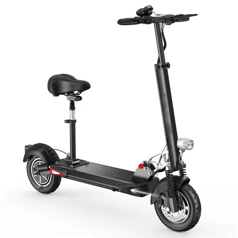 Daibot Pliage trottinette Adultes Deux Roues Scooters Électriques Unique Moteur 500 W 48 V 10 pouces vélo électrique pliable