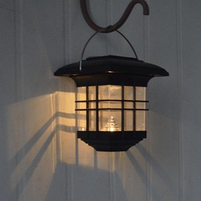 Waterproof Solar LED courtyard hanging lamp high brightness LED Landscape Path Yard Garden outdoor decorative chandelier outdoor courtyard solar power led hanging night light