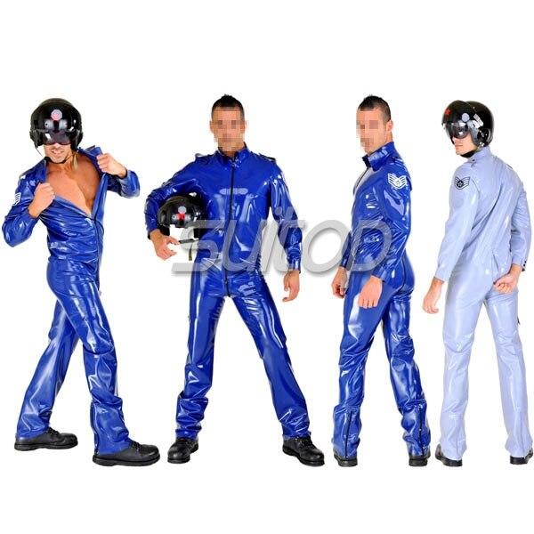 Armée homme en caoutchouc catsuit latex corps costume uniforme militaire pour hommes costumes cosplay ensembles SUITOP