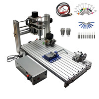 CNC milling machine DIY 6030 3060 MACH3 Control Diy Mini CNC router working area 29X57X9cm PCB engraving Machine