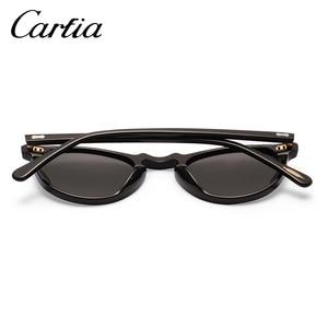 Image 5 - Carfia偏光サングラスクラシックブランドデザイナーグレゴリーつつくヴィンテージサングラス男性の女性ラウンドサングラス 100% UV400 5288