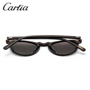Image 5 - Carfia очки солнцезащитные женские мужские круглые Винтаж поляризационные sunglasses women men 100% UV400 CA5288