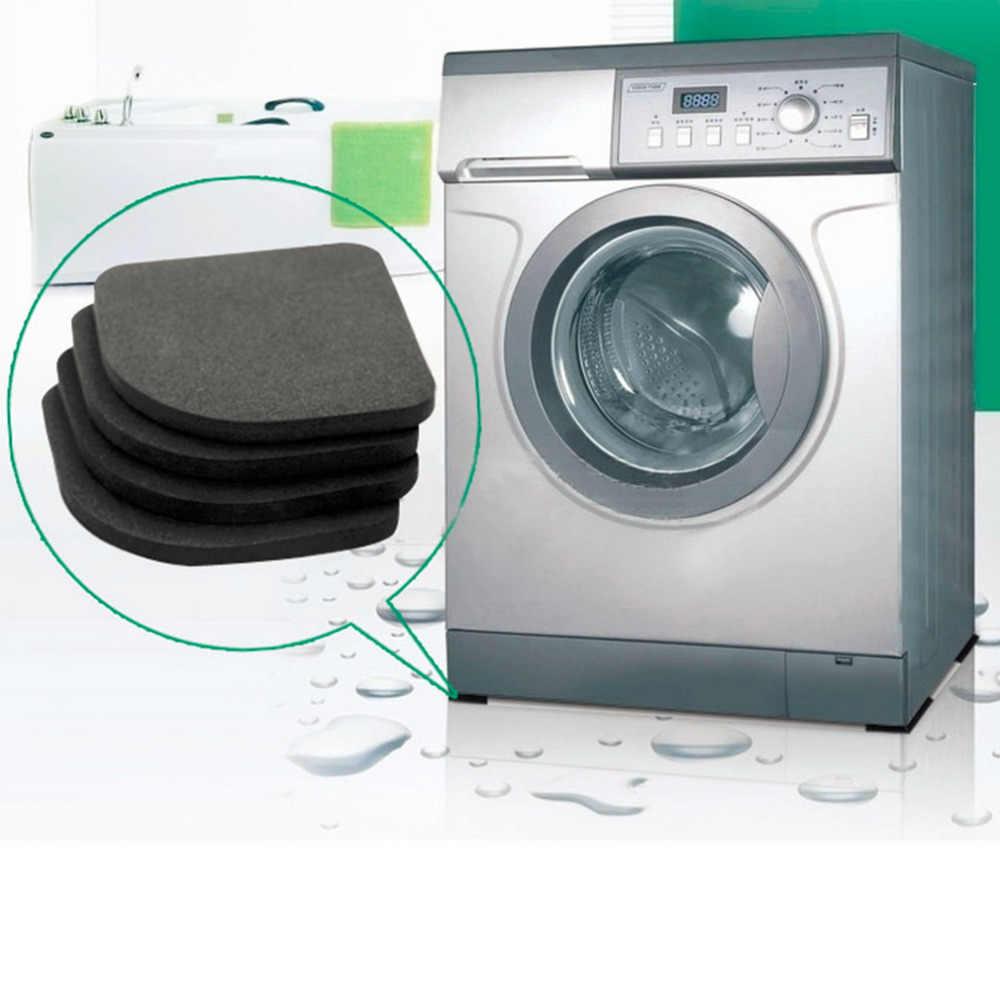 4 sztuk wielofunkcyjny lodówka antywibracyjny Pad Mat dla pralka podkładki antypoślizgowe maty zestaw łazienka akcesoria