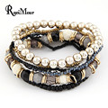 2017 Bohemian Summer Jewelry MutiLayer Beads Bracelets & Bangles for Women Elastic Strand Pulseras Mujer Femme Bijouterie