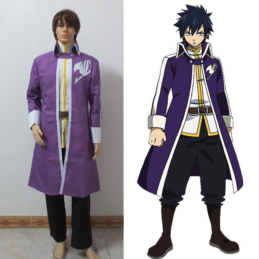 Relatively Customized Anime Fairy Tail Team Gray Fullbuster Cosplay Costume  ED09