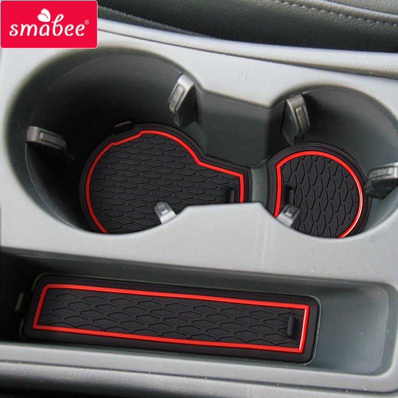 Smabee Gate slot mat For Audi A4 B8 2008   2015 RS4 S4 S line RS 4 Cup Holders Non-slip mats Rubber Coaster Accessories 12P