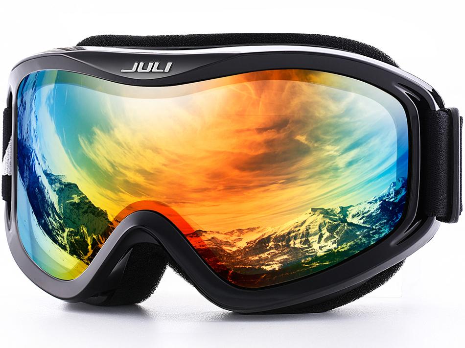 ski goggles over glasses