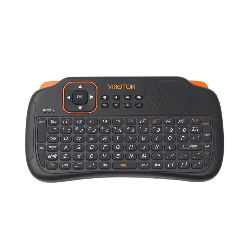 2.4 г Беспроводной мини-клавиатура Дистанционное управление Клавиатура Combo с Батарея для Мини-ПК Android ТВ <font><b>Raspberry</b></font> <font><b>Pi</b></font> <font><b>3</b></font> для оранжевый <font><b>pi</b></font> один