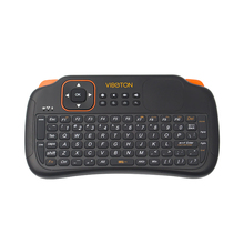 2.4G Wireless Mini Keyboard Remote Control Keyboard Combo with Battery for Mini PC Android TV Raspberry Pi 3 for Orange Pi One