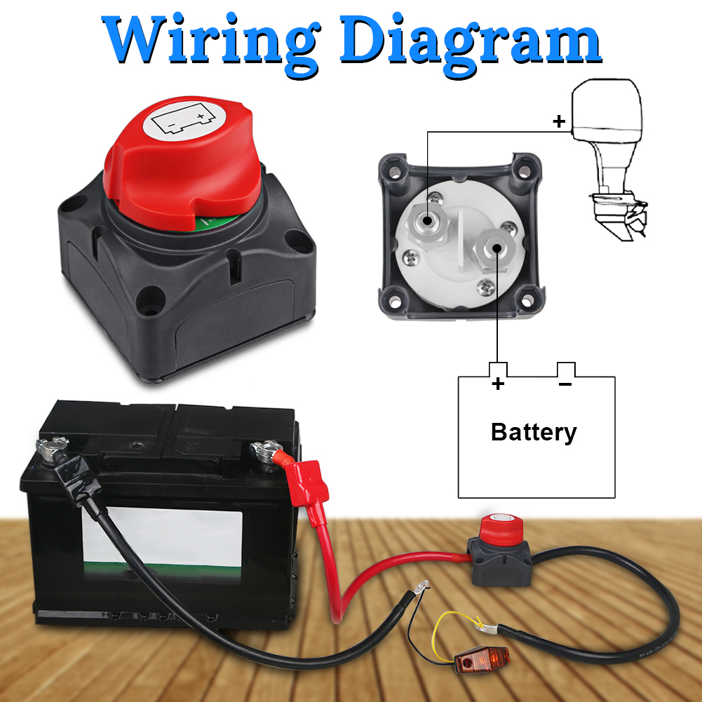small resolution of universal battery isolator master cutoff cut off switch disconnect rotary switch 12v 24v for car truck boat caravan auto in car switches relays from