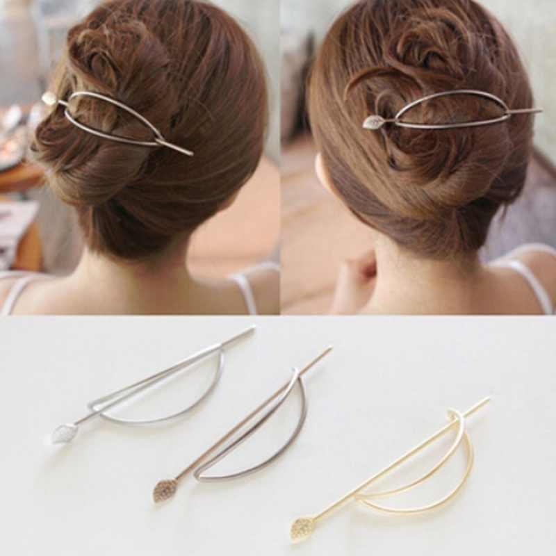 Geométrico Simple elíptica hueco recogido pinzas y horquillas para pelo horquilla de pelo Clips Pasador para las mujeres regalo cabello accesorios para el cabello