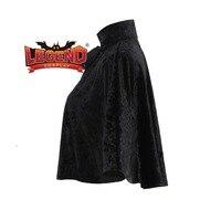 Steampunk Velvet Collar Capelet black mini cape