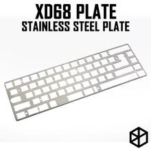 Piastra in acciaio inox per xiudi xd68 65% custom tastiera Tastiera Meccanica Piastra di supporto xd68