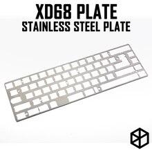 Plaque de clavier et clavier personnalisés, plaque mécanique, en acier inoxydable, pour xiudi xd68 65%, support de plaque de clavier xd68