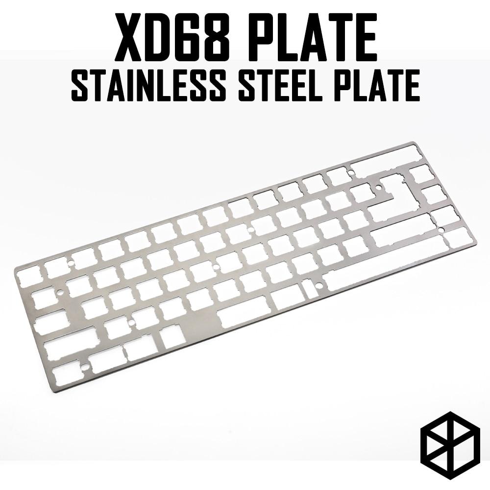 Stainless Steel Plate For Xiudi Xd68 65% Custom Keyboard Mechanical Keyboard Plate Support Xd68