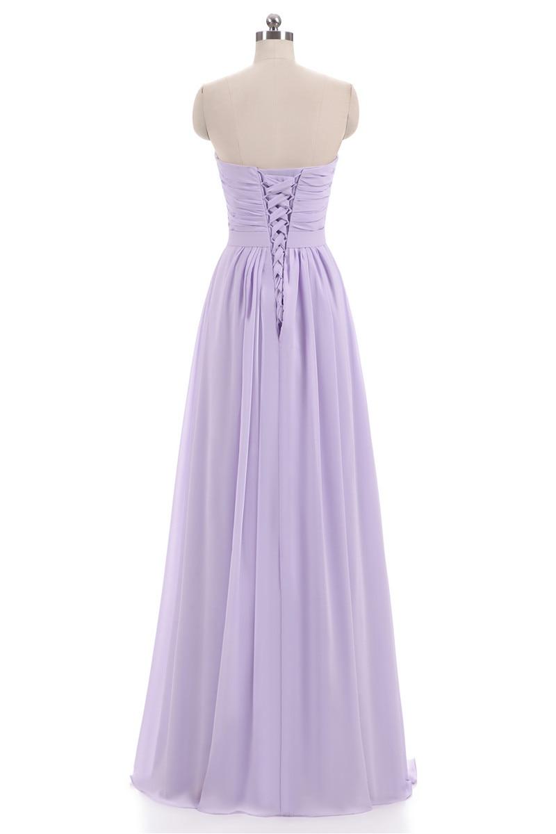 Nové růžové Lilac šifónové družičky šaty 2018 Plus velikost - Šaty pro svatební hostiny - Fotografie 6