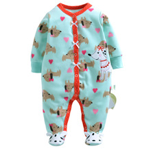 hot deal buy spring autumn winter fleece baby rompers cute pink baby girl boy clothing infant baby girls clothes jumpsuits footed coverall