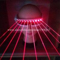 Toptan 5 Adet Kırmızı Lazer Laserman Gözlük Ile 10 adet Kırmızı lazerler Aydınlık Gözlük Parti Gece Kulübü KTV Bar Sahne Gösterisi gözlük