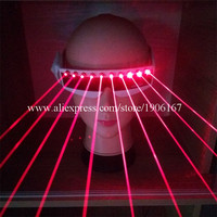 Wholesale 5 Pcs Red Laser Laserman Glasses With 10pcs Red Lasers Luminous Eyewear Party Night Club
