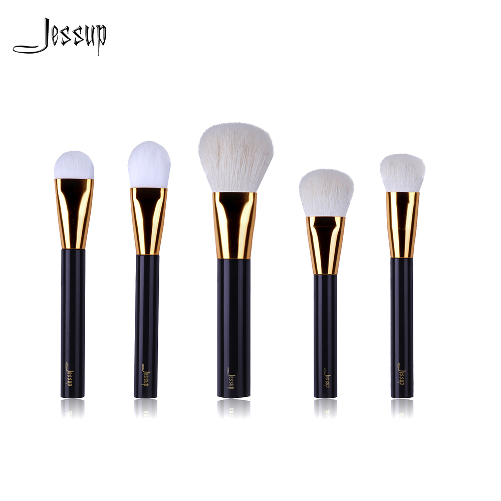NEW Jessup Brand Beauty 5pcs Coffe Professional Makeup Brushes Set make up Tools Kits cosmetics foundation blush powder brush high quality 12 18 24 pcs toothbrush shape makeup brush set cosmetics makeup make up metal brushes beauty tools powder brush