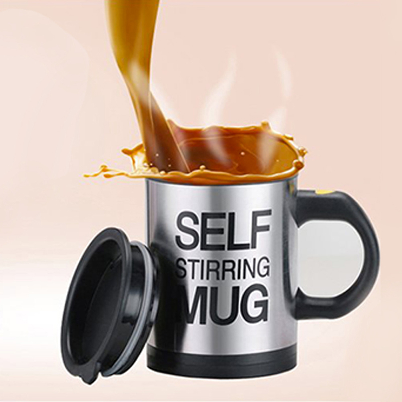 6 Colors 400ML Self Stirring Mug Automatic Electric Blenders Stainless Steel Coffee Makers Milk Tea Milk Mixing Drinking Cups  (4)